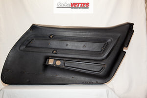 1970-1977 Corvette RH Door Panel - Bare Deluxe - Black