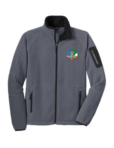 Full Zip Fleece Embroidered Jacket