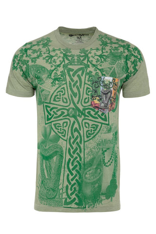 Irish Cross Full Print Pocket Tee