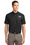 Port Authority® Short Sleeve Easy Care Shirt with Embroidered Logo