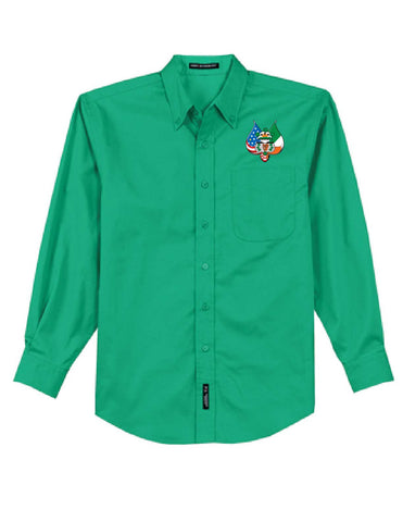 Port Authority® Long Sleeve Easy Care Shirt with embroidered logo