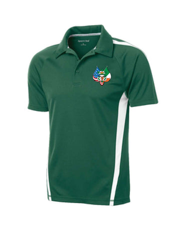 Embroidered Sport-Tek® PosiCharge® Micro-Mesh Colorblock Polo