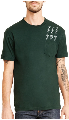 """Drink Irish Beer"" Shamrock Pocket Tee"