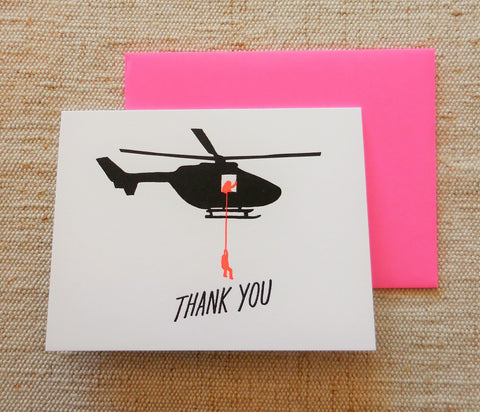 Thank You Helicopter Card by Ashkahn & Co.
