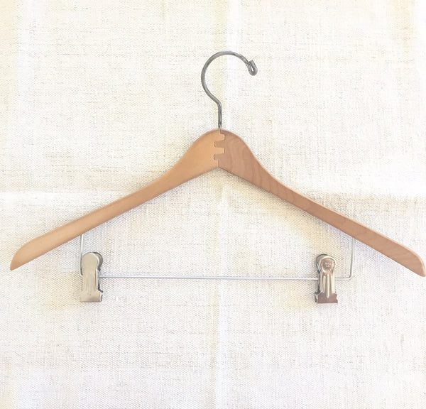 "17"" Wood Concave Trouser/Skirt Hangers"
