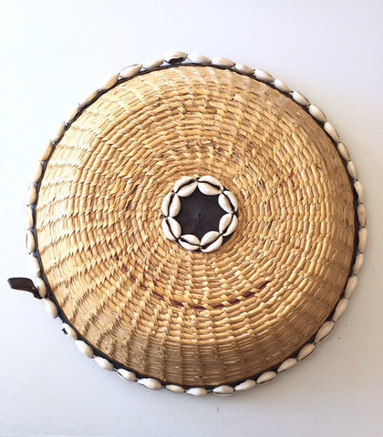 Ghanaian Cowrie Shell Basket