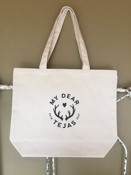 My Dear Tejas Organic Canvas Tote