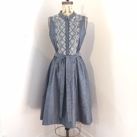 Costa.Japan Bond Tank Dress - Navy Chambray - Medium Only