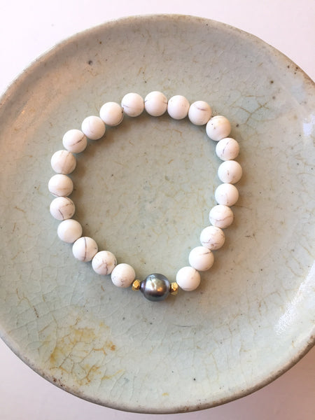 Peace_A_Porter Small Tahitian Pearl and Shell Bracelet