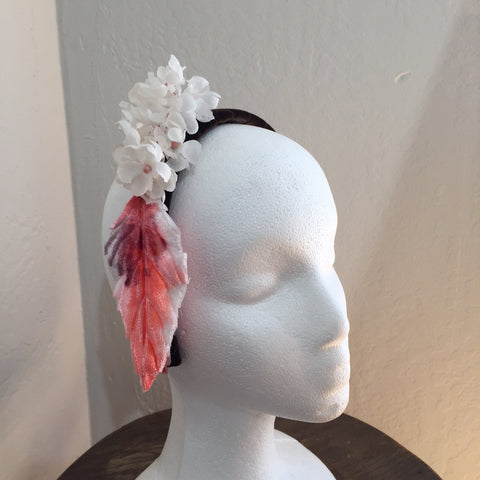Roehrman Velvet Headband with Vintage Flowers and Petals