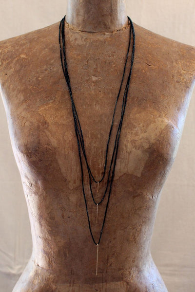 Cinq - Gold Stick Trio Necklace