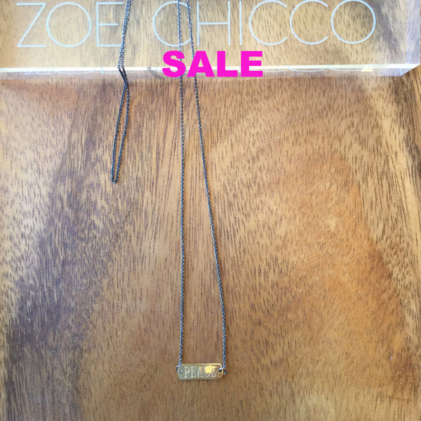 "Zoe Chicco ""Peace/Love"" Necklace"