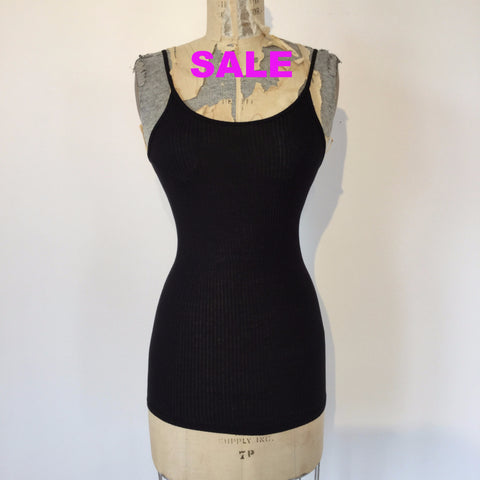 Beautiful People Ribbed Jersey Camisole - Black - Petite Only