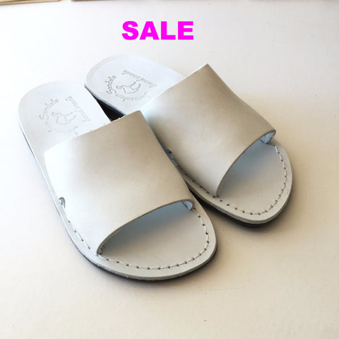 "Jerusalem Sandals ""Basan"" Sandals - White - Size 42 Only"