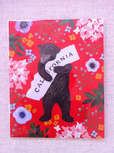 """I Love You California"" Red Print by Annie Galvin"