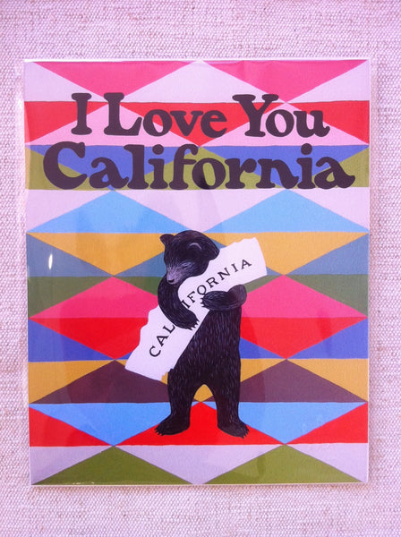 """I Love You California"" Blanket Print by Annie Galvin"