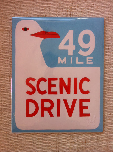 """49 Mile Scenic Drive"" Print by Annie Galvin"