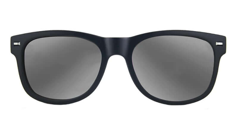 Armstrongs Silver Lenses with Black Frames by Tomahawk Shades