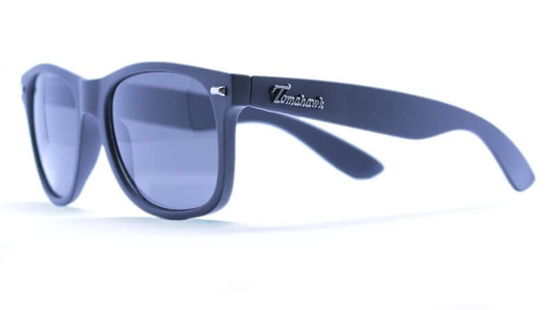 Wayfarer Style Sunglasses with Black Lenses and Black Frames