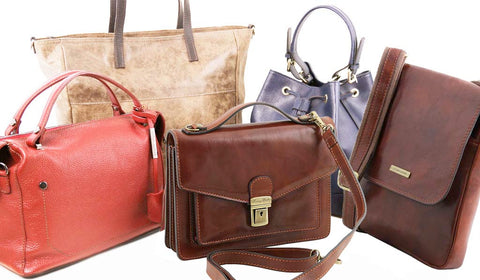 Leather bags for women and men