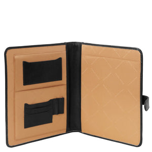 Internal View of the Black Document Case With pockets & Space Allocation