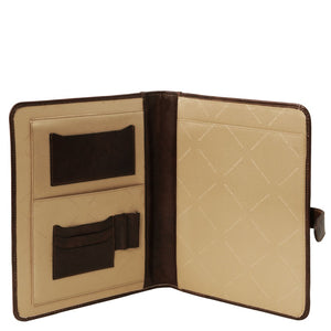 Internal View Of The Dark Brown A4 Document Case
