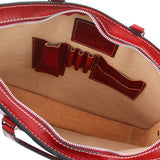 Internal View Of The Alba Women's Red Luxurious Briefcase