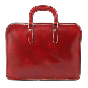Rear View Of The Alba Women's Red Elite Briefcase