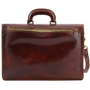 Rear View Of This Original Brown Briefcase