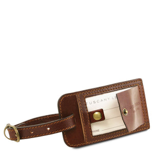 Luggage Tag View Of The Aristocratic Leather Duffle Bag Small