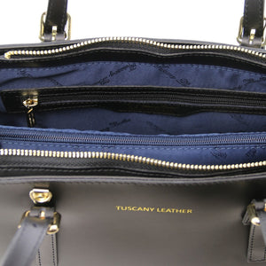 Internal Material Colour View Of The Black Ruga Handbag