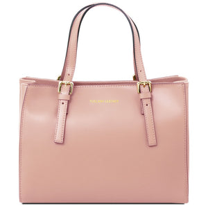 Front View Of The Nude Aura Ruga Leather Handbag