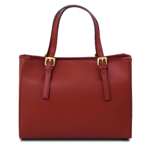 Rear View Of The Red Ruga Handbag