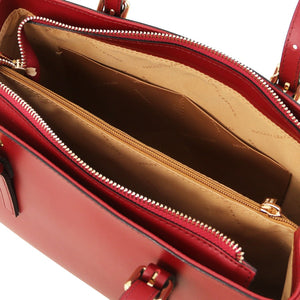 Internal View Of The Red Ruga Handbag
