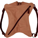 Opened Bag Zippered View Of The Cream Soft Leather Hobo Bag
