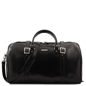 Front View Of The Black Large Travel Bag