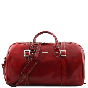 Front View Of The Red Large Travel Bag