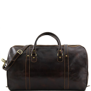 Rear View Of The Dark Brown Large Travel Bag