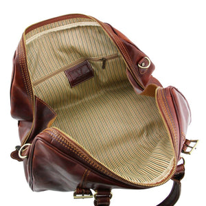 Internal View Of One Of The Brown Leather Travel Set
