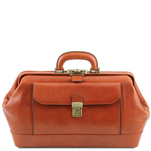 Front View Of The Honey Leather Doctors Bag