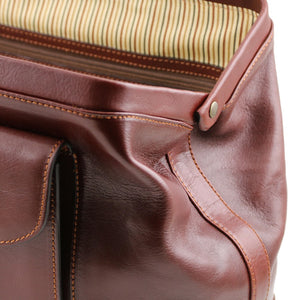 Side View Of The Brown Leather Doctors Bag