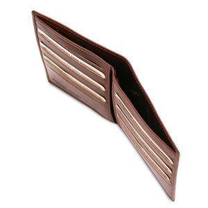 Currency Holder View Of The Brown Bifold Leather Wallet For Men