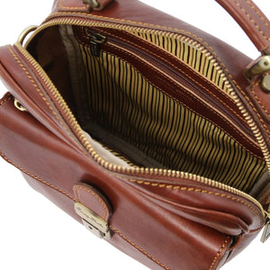 Internal View Of The Brown Mens Shoulder Bag