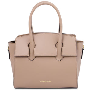Front View Of The Champagne Tote Handbag