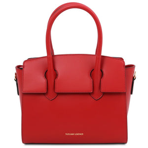 Front View Of The Lipstick Red Tote Handbag