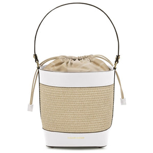 Front View Of The White Bucket Bag