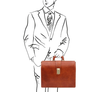Sketch Of Man Posing With The Honey Leather Doctor Bag
