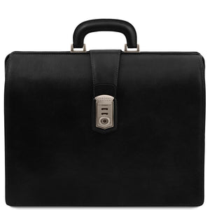 Front View Of The Black Leather Doctor Bag