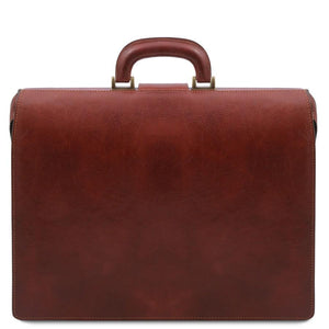 Rear View Of The Brown Leather Doctor Bag