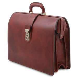 Angle View Of The Brown Leather Doctor Bag